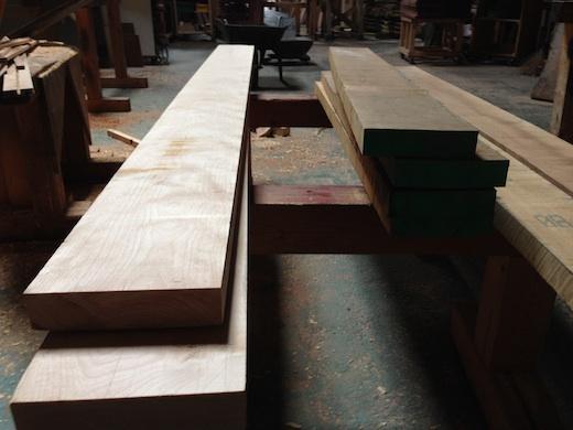 イエローバーチでテーブルを作る