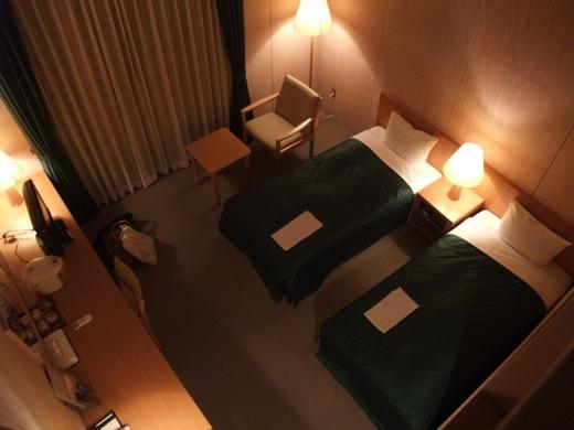 フォレスト益子の客室は程よい光で照らされる