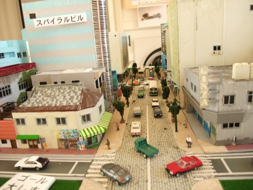 アトサキセブン展示スペースにある当時の賑わいを表す街の模型