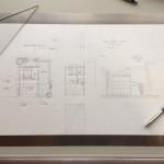 [sketch #5]裏路地に建つ職人の仕事場と住まい