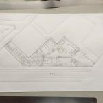 [sketch #7]線路沿いにぶらっと歩ける抜け道がある家