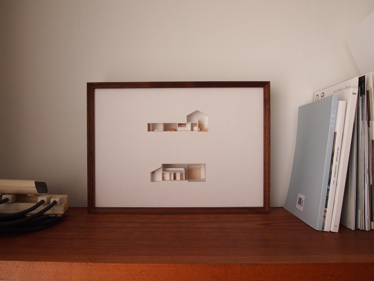 十字路に建つ作業室を持った小さな平屋の住宅07